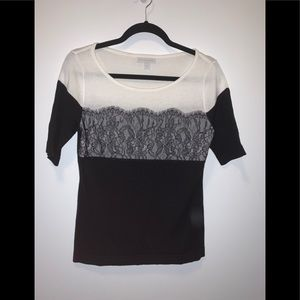 NWOT New York & Company Shirt with Lace Detailing